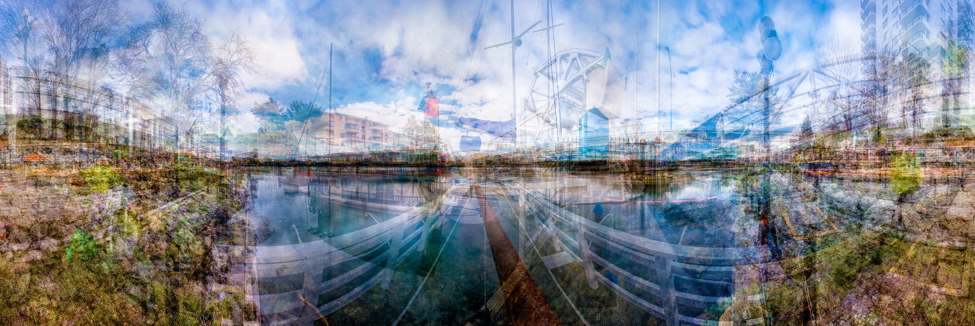 """The Ragged Edge: Inner, Middle, and Outer Harbour, Victoria, 2014, chromogenic print, 30"""" x 90""""   39/66"""