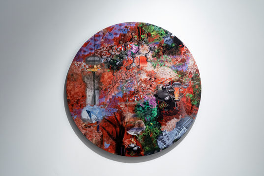 Deep Aware Triads (The Oral Logic), 2019, archival inkjet print, 36'' diameter   10/29