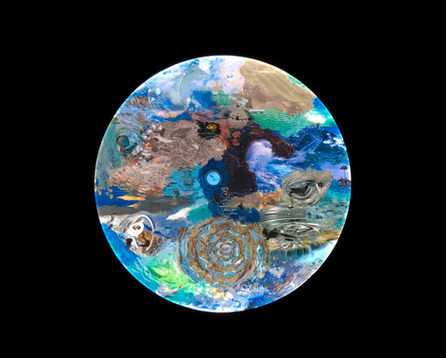 "Deep Aware Triads, Saudade, 2020, 48"" diameter lightbox   1/29"