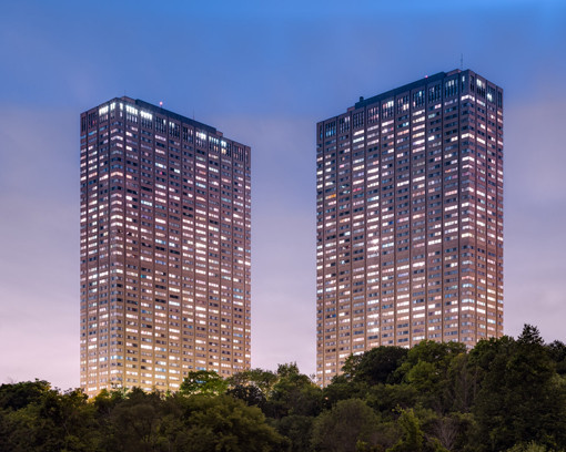 """85 and 95 Thorncliffe Park Drive, Toronto (Leaside Towers) 2014, chromogenic print, 48"""" x 60""""   49/66"""