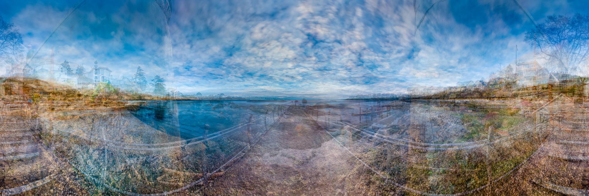 "The Ragged Edge: Strait of Juan de Fuca, Victoria, 2014, chromogenic print, 30"" x 90""   40/66"