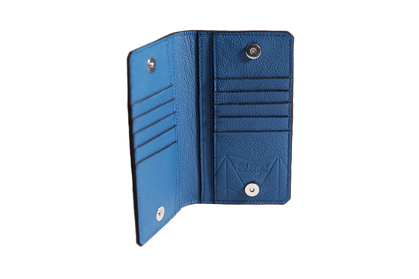 wallet 701 in blue leather