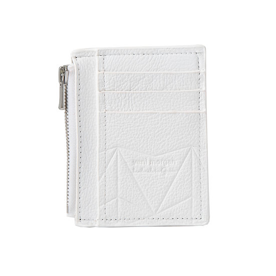 wallet 201 in bianco leather