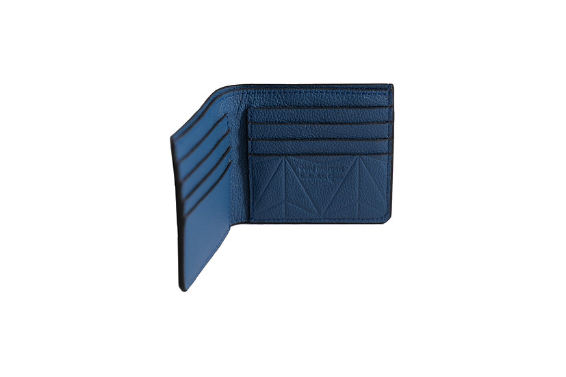 wallet 501 in blue leather