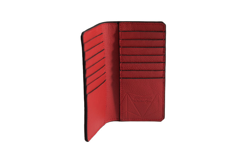 wallet 601 in red leather