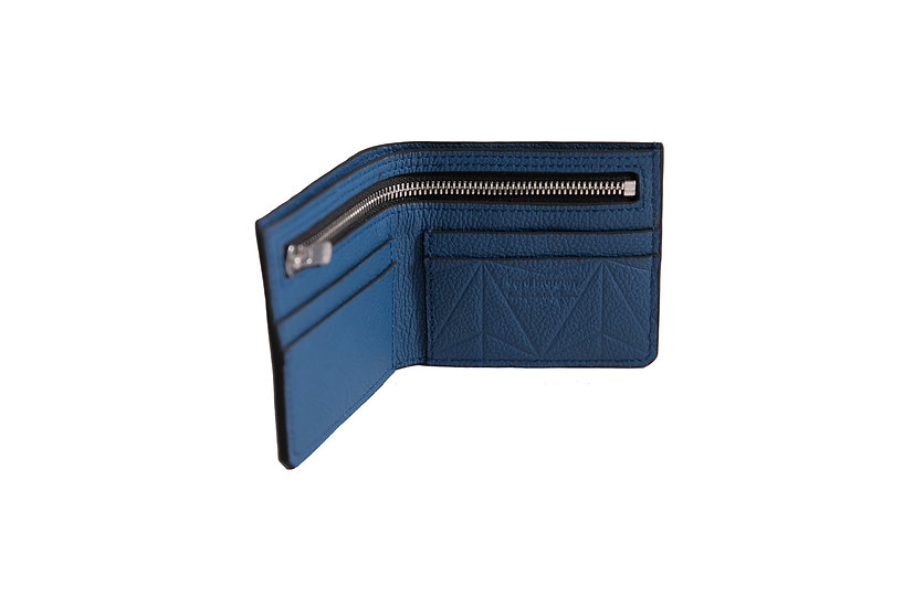 wallet 511 in blue leather