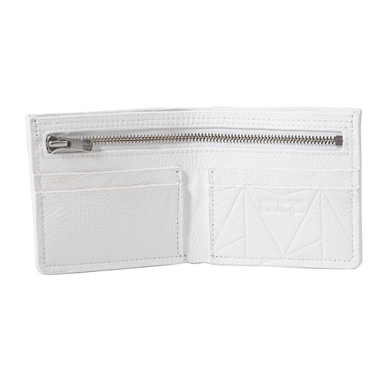 wallet 501 in bianco leather