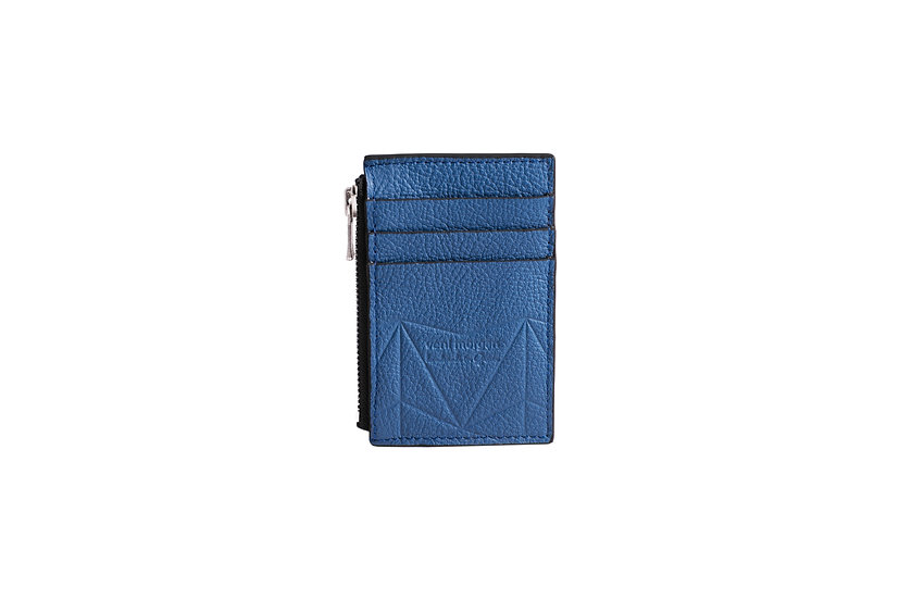 wallet 201 in blue leather