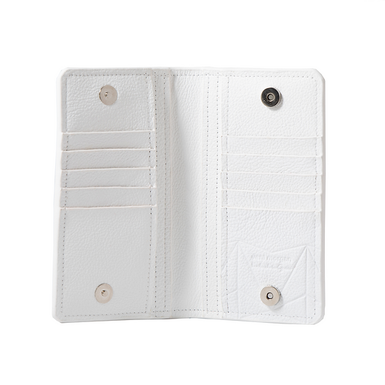 wallet 701 in bianco leather