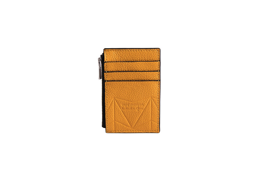wallet 201 in yellow leather