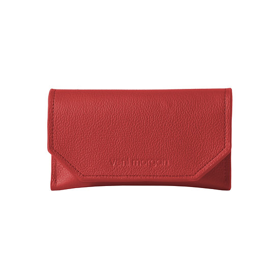tobacco case in red leather