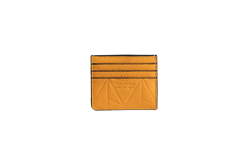 wallet 101 in yellow leather