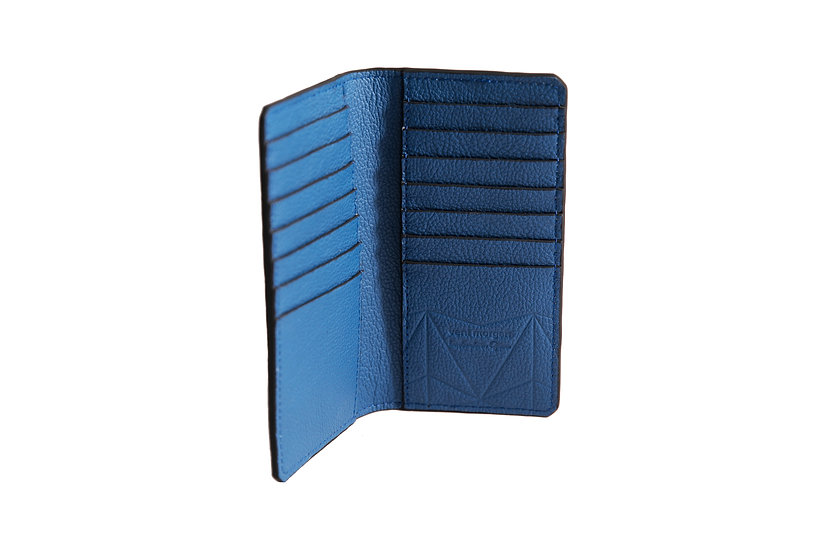 wallet 601 in blue leather