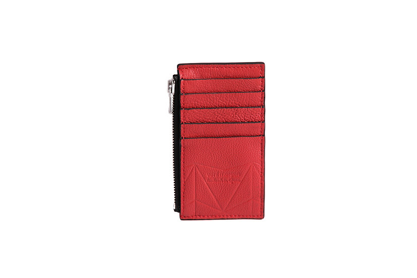 wallet 301 in red leather