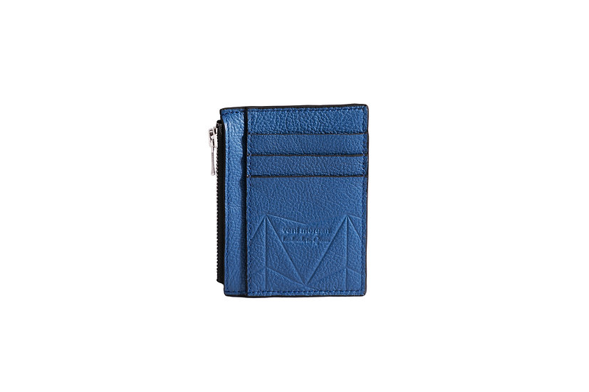 wallet 211 in blue leather