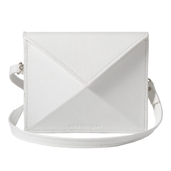 noshi in bianco white leather