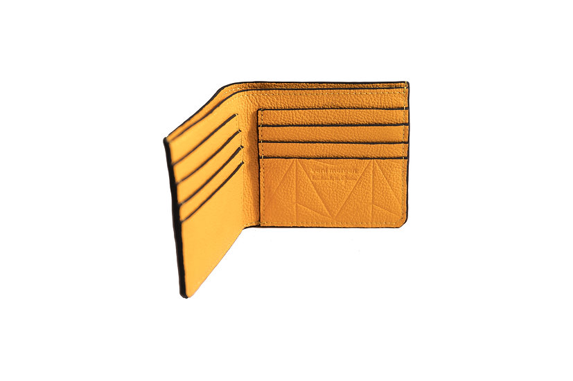 wallet 501 in yellow leather