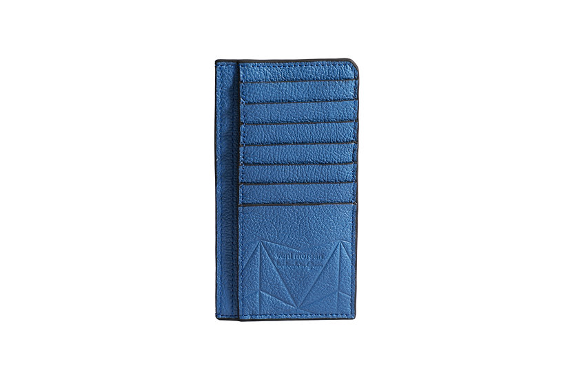 wallet 401 in blue leather