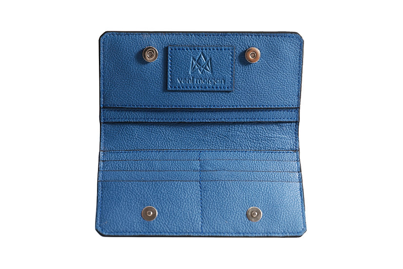 wallet 801 in blue leather