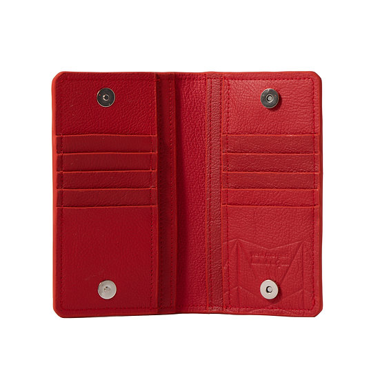 wallet 701 in red leather