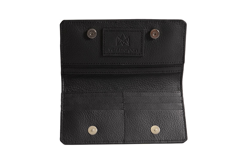 wallet 801 in black leather