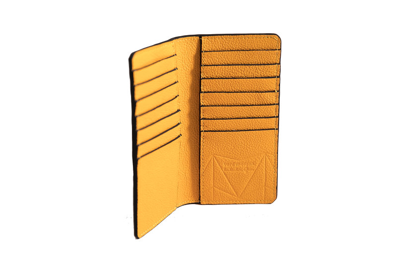 wallet 601 in yellow leather