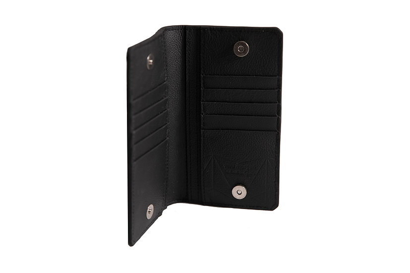 wallet 701 in black leather