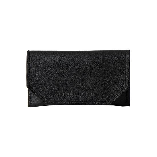 tobacco case in nero black leather
