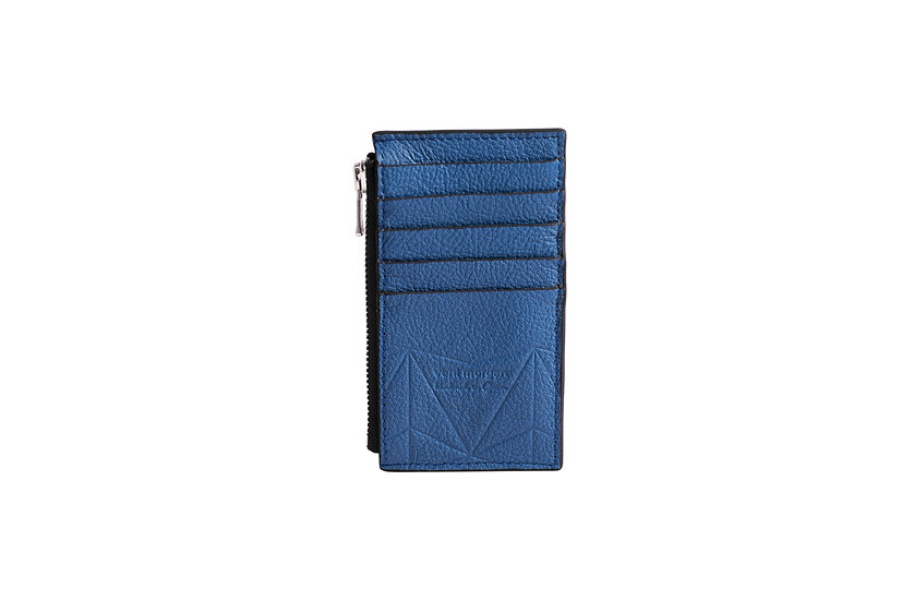 wallet 301 in blue leather