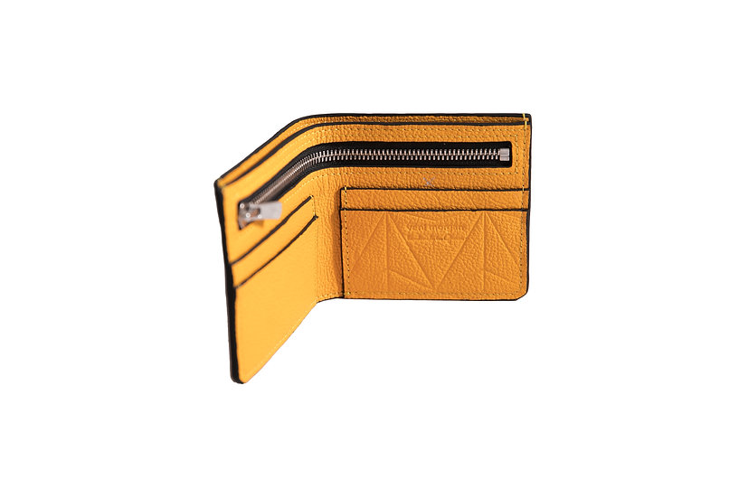 wallet 511 in yellow leather