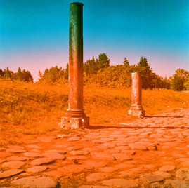 Ostia Antica, colonnes, été 2017