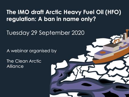 Вебинар, посвященный судовому топливу для Арктики