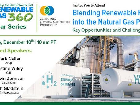 Внедрение возобновляемого водорода в текущую систему газоснабжения обсудят на предстоящем вебинаре