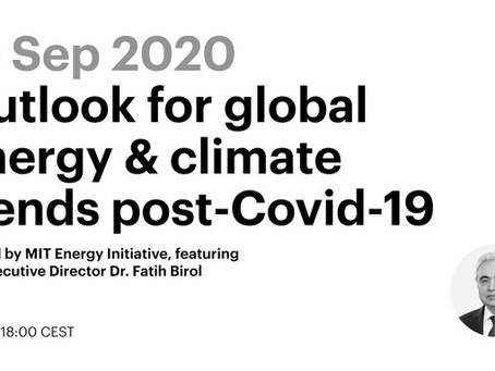 Глобальные энергетические и климатические тренды после COVID-19 – тема предстоящего вебинара