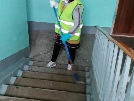 Обработка всего жилого фонда «Новохлором» в целях профилактики заболевания коронавирусной инфекцией