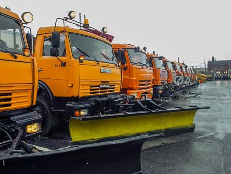Коммунальщики Екатеринбурга противостоят образованию наледи на дорогах и тротуарах