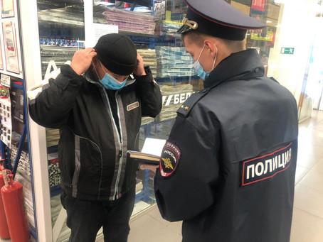 В Орджоникидзевском районе продолжается масочный контроль