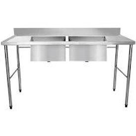 Mesa com Pia em Inox para Cozinha Industrial (1 unid.)