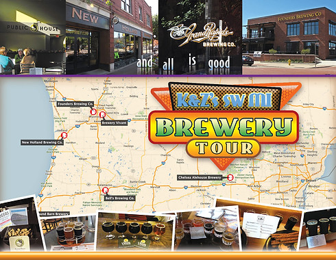 KnZ Brewery Tour Map