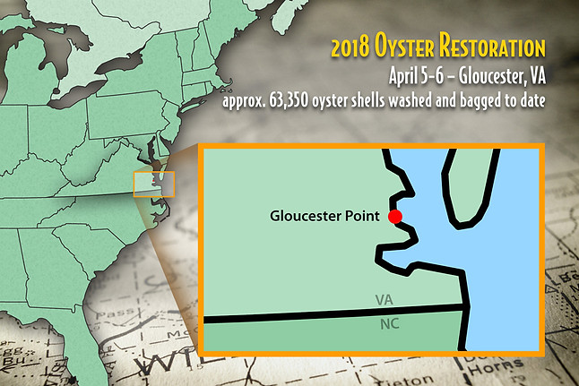Oyster Restoration Map