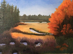 Wolterrs_Landscape_Fall Light Oil on can