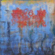 Hinaekian Red raindrops, 24 x 24, giclee