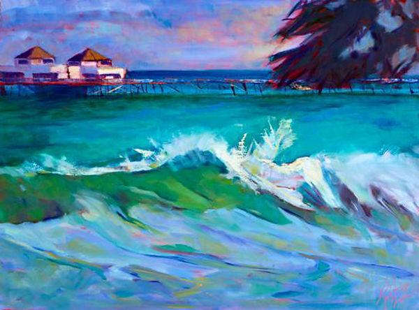 Katz Malibu View 18x24 Oil on wood 1200.
