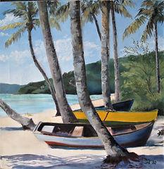 Sanderson_plein air Grand Anse Boats oil 18x18 950.jpg