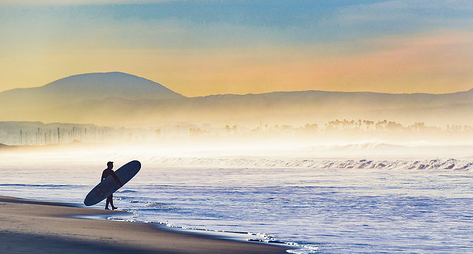 Moeller 5 - Entering the Surf on a Foggy