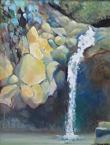Sanderson_landscape_ oil_Annandale Falls