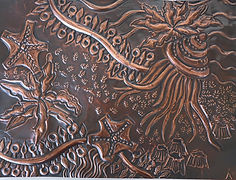 Chaitin sea forms other embossed copper