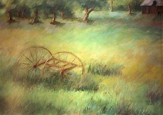 Levine_landscape_Vermont Meadow_pastel_1