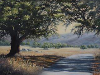 Roper_landscape_MorningShadows  Oil on l