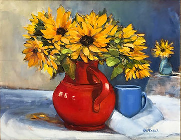 Nobil_Still Life_Sunflowers Orange Vase Oil 16x20 $540.jpg